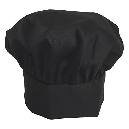 Obvious Chef - Black Chef Hat - Adjustable Velcro Fit - Adult (Black) (Plain Slides compare prices)