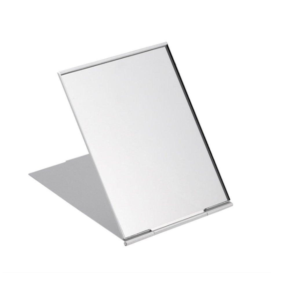Spaufu Miroir Miroir de voyage portable pliant ultra mince Miroir Miroir de poche Compact Petit miroir de maquillage