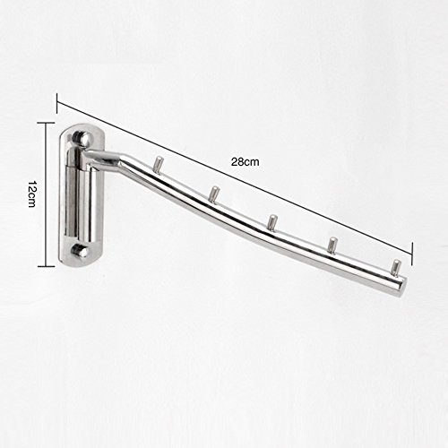 newdora folding wall mounted clothes hanger rack clothes