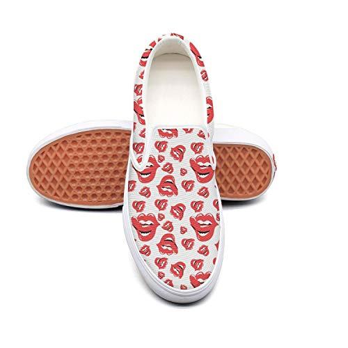 AmSports Retro Shoes Skateboard Slip-on Sneakers for Women