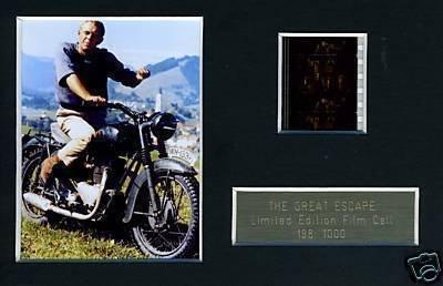 Parte di pellicola del film La grande fuga con Steve McQueen, edizione limitata