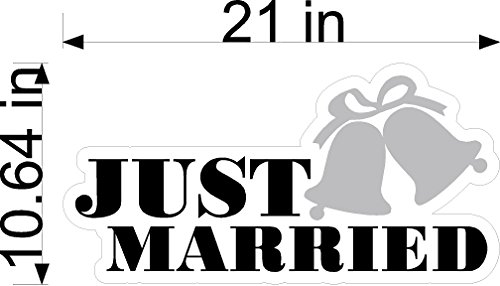 Just Married Auto Clings - Just Married Wedding Static Cling Window Decals Removable and Reusable Wedding Clings Car Decorations