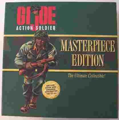 GI Joe Masterpiece Edition The Ultimate Collectible - Action Soldier with Deluxe Book and Original Reproduction 1964 GI Joe With Black Hair