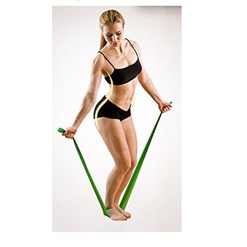 Ruban bande élastique latex pour Yoga Fitness Pilates Gymnastique Vert 4527VD