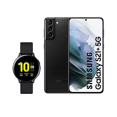 SAMSUNG Smartphone S21+ 5G 128 GB Negro con Watch Active 2
