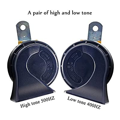 SoundOriginal DL168-A 500Hz Hight Tone and 400Hz Low Tone Car Hron 12 Volt Two Tone Electric Horn for Golf Truck Car Motorcycle etc. (Two-Tone): Automotive