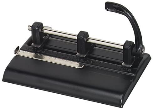 Master Adjustable 40 Sheet 3-Hole Punch, Black (MAT1325B) [並行輸入品]