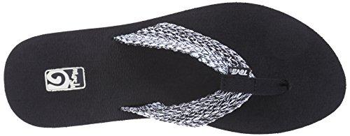 Teva Damen Mush II Sandale Tiki schwarz / weiß