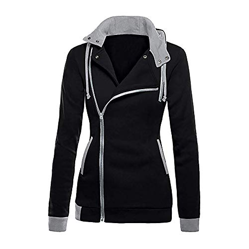 HYIRI Long Sleeve Blouse Coat Sweatshirt,Womens Zipper Slim Fit Hoodie Jacket