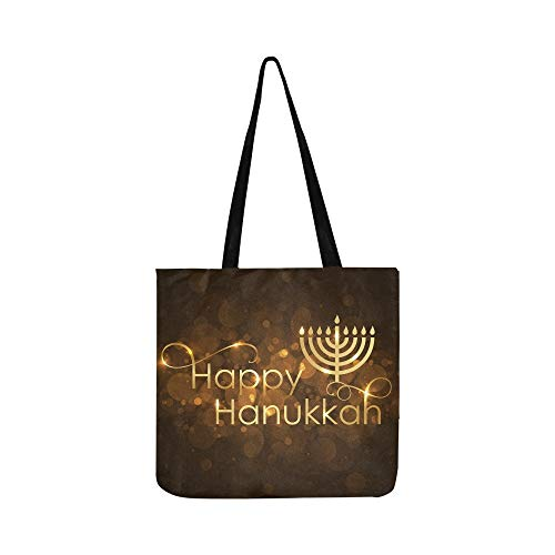 Femmes Sac Heureuse Et Vecteur Hanukkah Shopping Or Hommes Wish Card Main Pour Sacs À Tote Canvas Bandoulière 0xZxq4