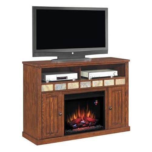 ClassicFlame 23MM0925-O125 23″ Sedona TV Stand for TVs up to 57″, Caramel  (Electric Fireplace Insert sold separately) Review
