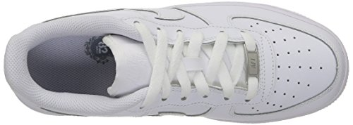 Nike Air Force 1 (Gs), Zapatillas de Baloncesto para Niños Blanco (White / White-White)