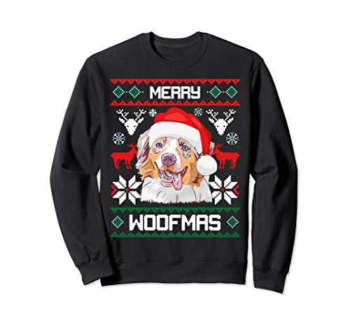 Australian Shepherd Merry Woofmas Christmas -