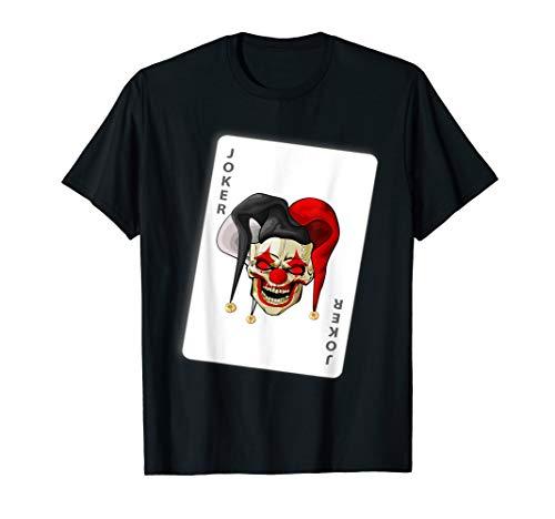 Scary Joker Costume (Scary Joker Clown Halloween Costume Party T-shirt)