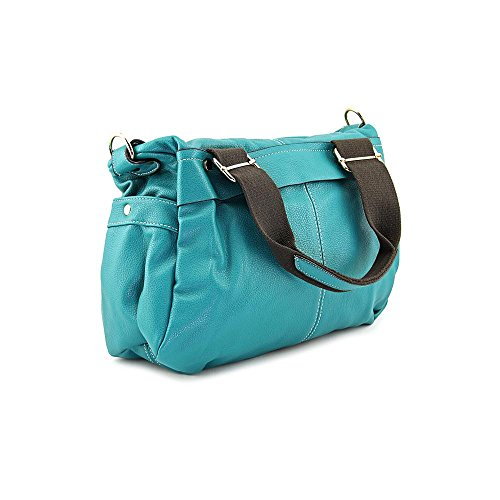 Teal Twins Teal Satchel Double Satchel Double Handle Twins Twins Handle Double Satchel Handle Teal qE651xwOH