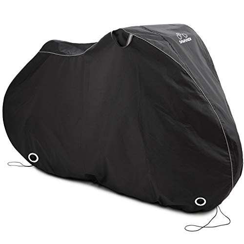 DAVANDI Bike Cover L - Waterproof Outdoor Bicycle Storage for 1 Bike - Heavy Duty Ripstop Material - Offers Constant Protection for All Types of Bicycles All Through The 4 Seasons