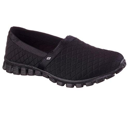 Skechers Ez Flex Bankroll Womens Slip On Sneakers Black 7 5