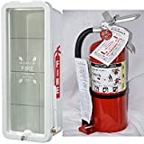 Amerex, B500 ABC type Fire Extinguisher With 5 LB. Fire Extinguisher Cabinet Combo