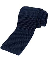 Men's Solid Knit Slim Tie