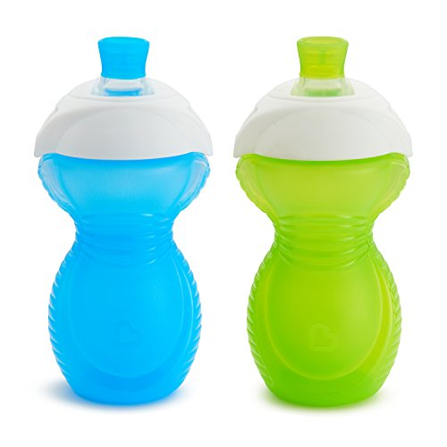 Munchkin Click Lock Bite Proof Sippy Cup, Blue/Green, 9 Ounce, 2 ()