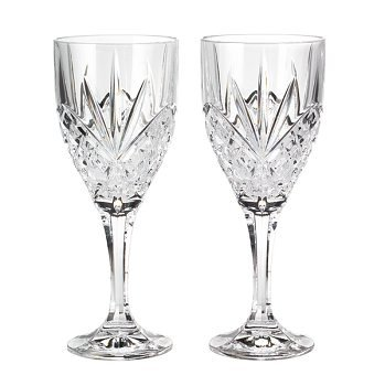 - Godinger 25731 Dublin Crystal Set of 12 Goblets, Clear