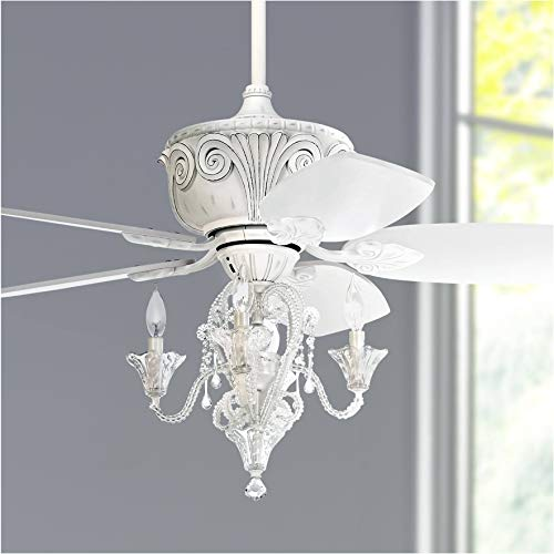 44 Quot Casa Deville Vintage Chic Ceiling Fan With Light Led Dimmable Crystal Chandelier Rubbed