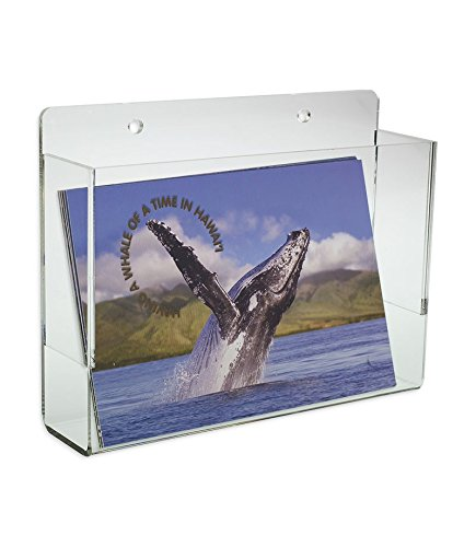 - Source One LLC Premium Wall Mount Postcard Holder Display Rack (1-Pack Clear)