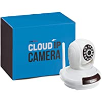 AmSecu IPT-472 Cloud IP camera, Plug & Play, Video Monitoring, Pan/Tilt with Two Way Audio and Motion Detection, Alarm functionalities