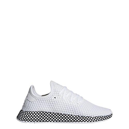 adidas Mens DEERUPT Runner White/White/Black - B41767 (10) by adidas