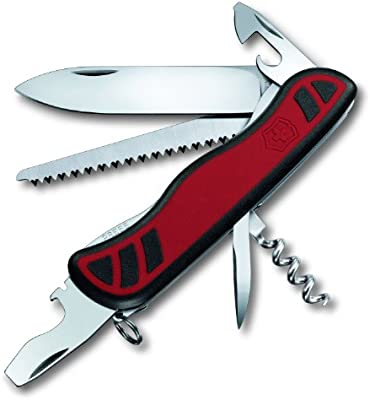 Victorinox Dual Density - Navaja de Acampada, tamaño 126, Color Rojo/Negro