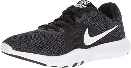 Nike Women's Flex Trainer 8 Cross (5.5 M US, Black/White - Anthracite)