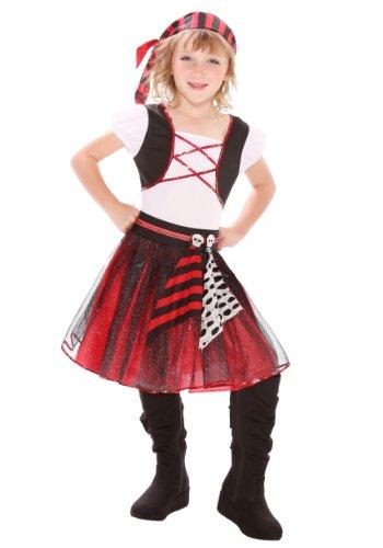 Big Girls' Punky Pirate Costume Small (4-6)