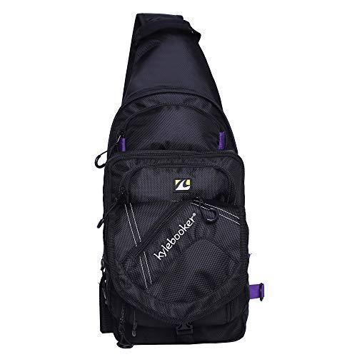 Kylebooker Fishing Sling Bag Fly Crossbody Bag Chest Pack Tackle Storage Backpack for Men and Women