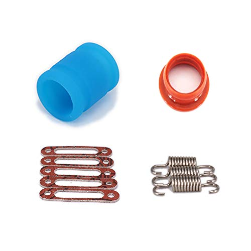 Nitro Hpi Car (Silicone Joint Exhaust Pipe Spring Rubber Adapter Manifold Gasket 1/10 Nitro RC Car HSP HPI Traxxas Losi Axial)