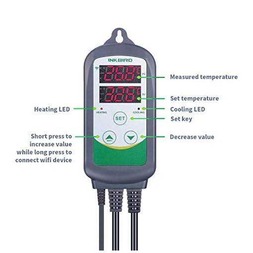 inkbird itc-308 wlan thermostat,heizen kühlen steckdose temperaturregler fernsteuerung per app