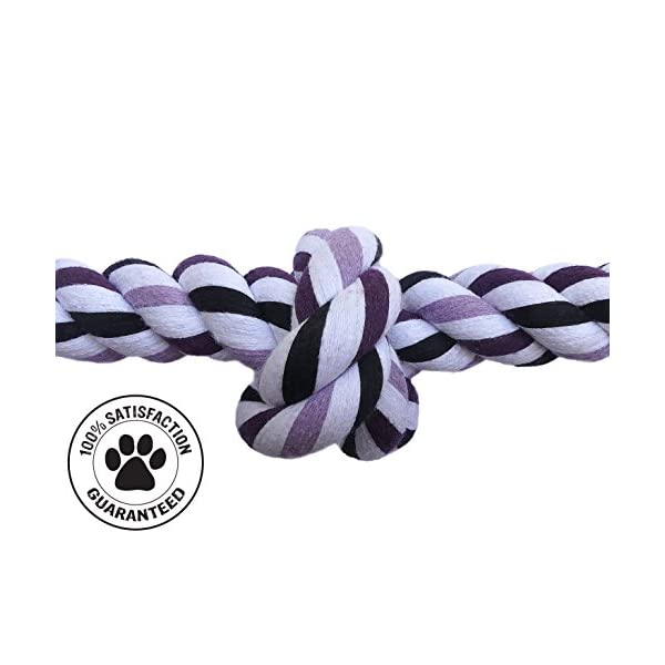 Blue's Choice Dog Rope Toy, Large and Durable for Dogs and Puppies, Suitable for Aggressive Chewers, Purple Click on image for further info. 2