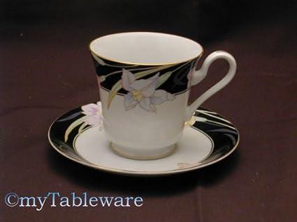 Amazon.com | Mikasa Charisma Black #l9050 Cup & Saucer: Drinkware ...