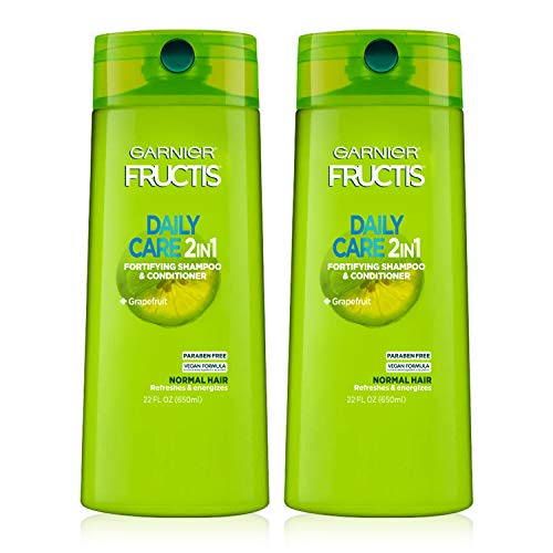 Garnier Hair Care Fructis Fortifying Paraben-Free 2-in-1 Shampoo and Conditioner for Stronger Looking Hair with Touchable Softness, 22 Fl Oz, 2 ()