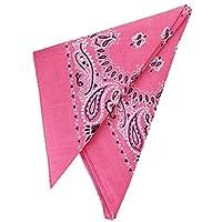 """Nuevo traje de vaquero rosa vaquera 19 """"pañuelo de cabeza de pañuelo"""