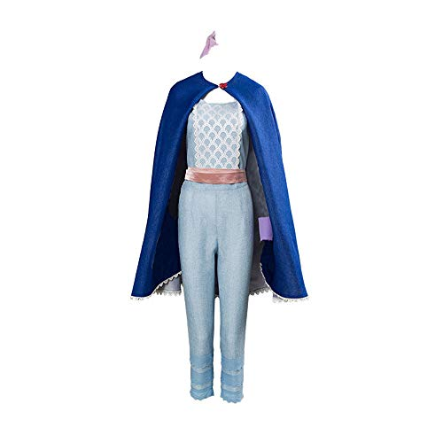 Womens Peep Bo Light Blue Suit Cape Costume Adult Halloween Cosplay (Women M, Fullset) -
