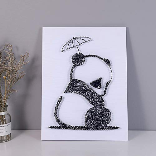 Home Decoration DIY Thread Winding Stereo Panda Decorative Painting, Mural DIY Material Package Decompression Desktop Decoration Decorations, Parent-Child Manual Interactive Game by Home Decoration (Image #2)