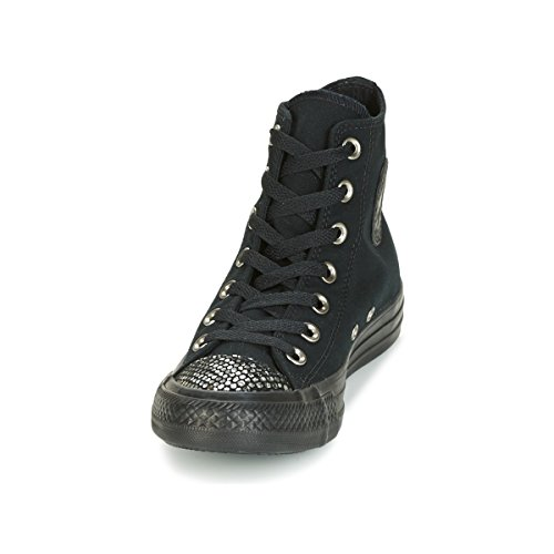 Converse Canvas Taylor Hi Star Black Womens All Chuck Trainers rRa6rqY
