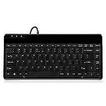 """Perixx PERIBOARD-409U, Mini Keyboard - USB - 12.40""""x5.79""""x0.79"""" Dimension - Piano Finish Black"""