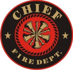 (Fire Chief Decal - Round)