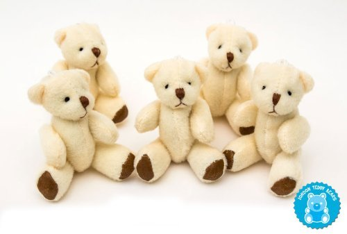 NEW 5 X Cute And Cuddly Little Teddy Bear - Gift Present Birthday Xmas - 3 inches ()