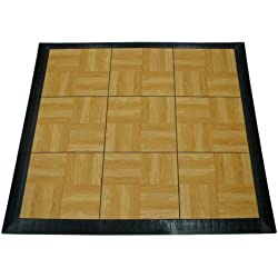 Greatmats Portable Dance Floor 9 Tiles, Portable Tap Dance Kit Light Oak