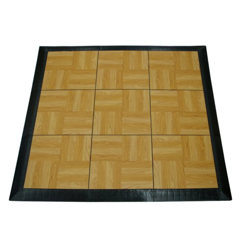 (Greatmats Portable Dance Floor 9 Tiles, Portable Tap Dance Kit (Light Oak))