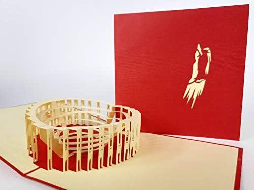 Plaza de Toros: Pamplonas Bullighting Arena Red (España), tarjeta ...