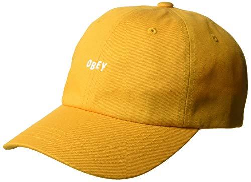 Obey Men's Jumble BAR III 6 Panel Strapback HAT, Honey Gold, ONE Size