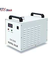 US Stock S A CW 3000DF Thermolysis Industrial Water Chiller AC 1P 110V 60HZ For 0 8KW 1 5KW Spindle Cooling